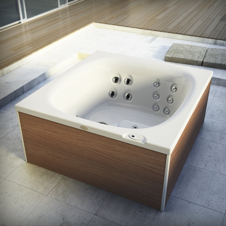 jacuzzi city spa whirlpool met 2 zittingen stone company. Black Bedroom Furniture Sets. Home Design Ideas