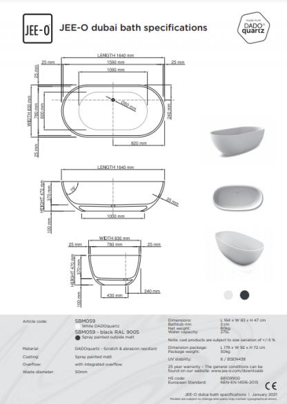JEE-O Dubai technische tekeningen