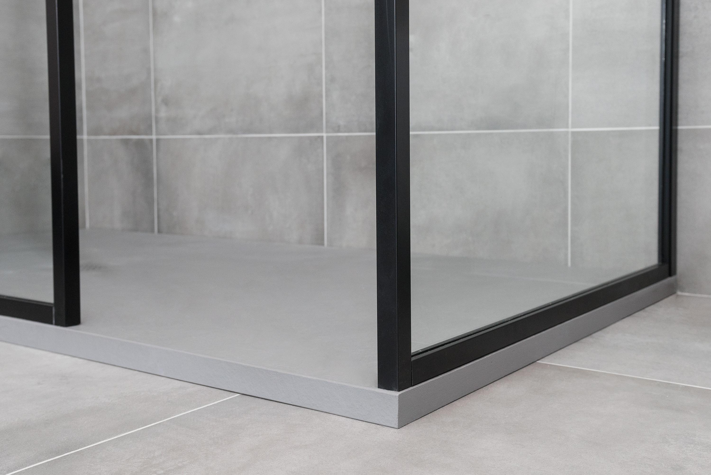 Drench douchescherm met mat zwarte omlijsting stone company